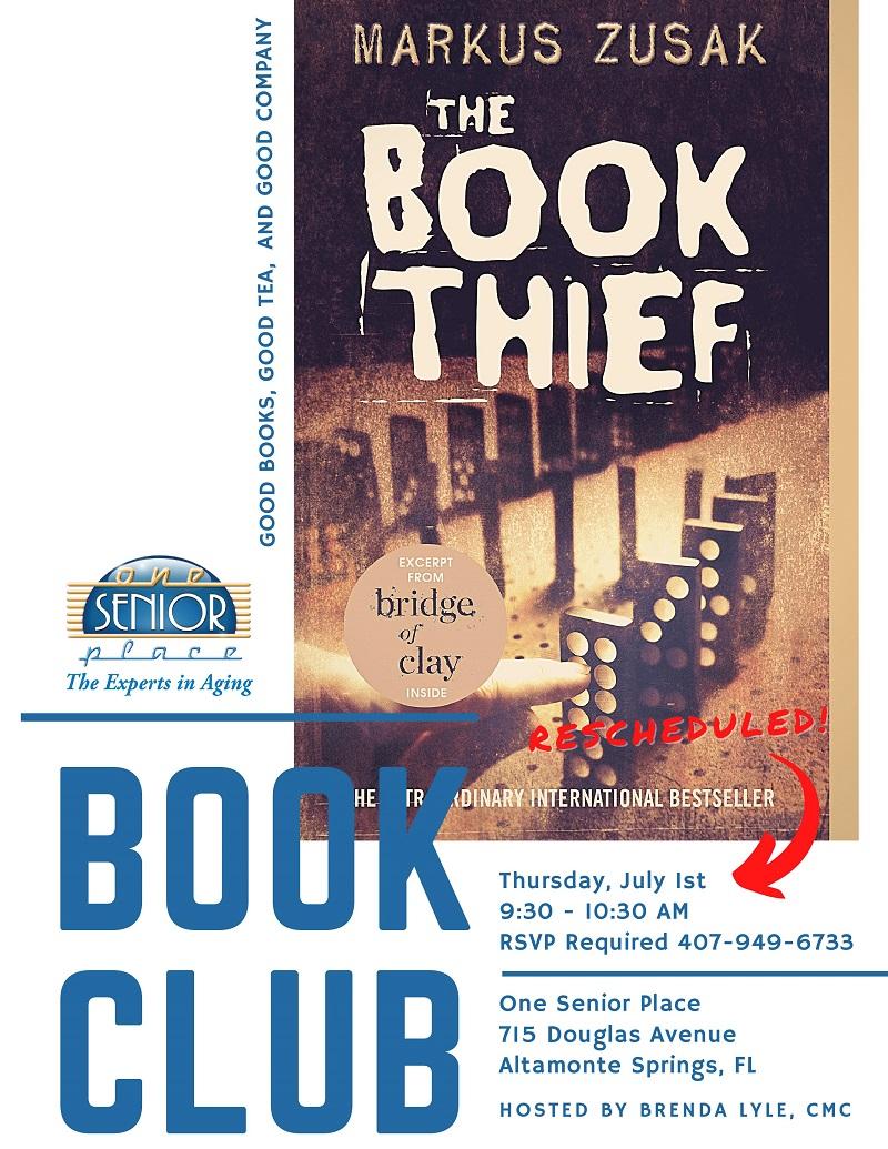 "IN-PERSON: Book Club ""The Book Thief"" by Markus Zusak"