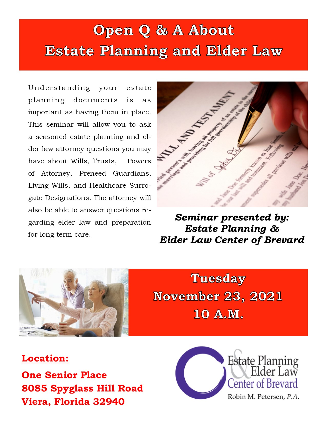Open Q & A About Estate Planning and Elder Law