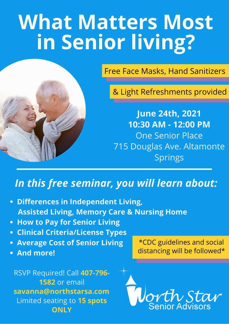 IN-PERSON: What Matters Most in Senior Living?
