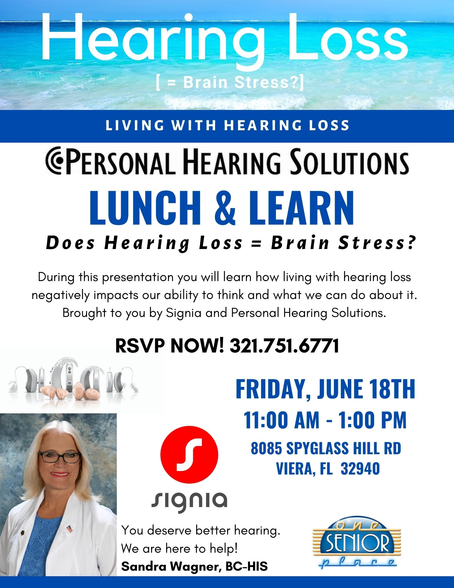 Hearing Loss presented by Personal Hearing Solutions