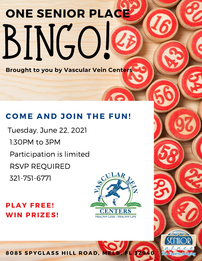 BINGO! brought to you by Vascular Vein Centers