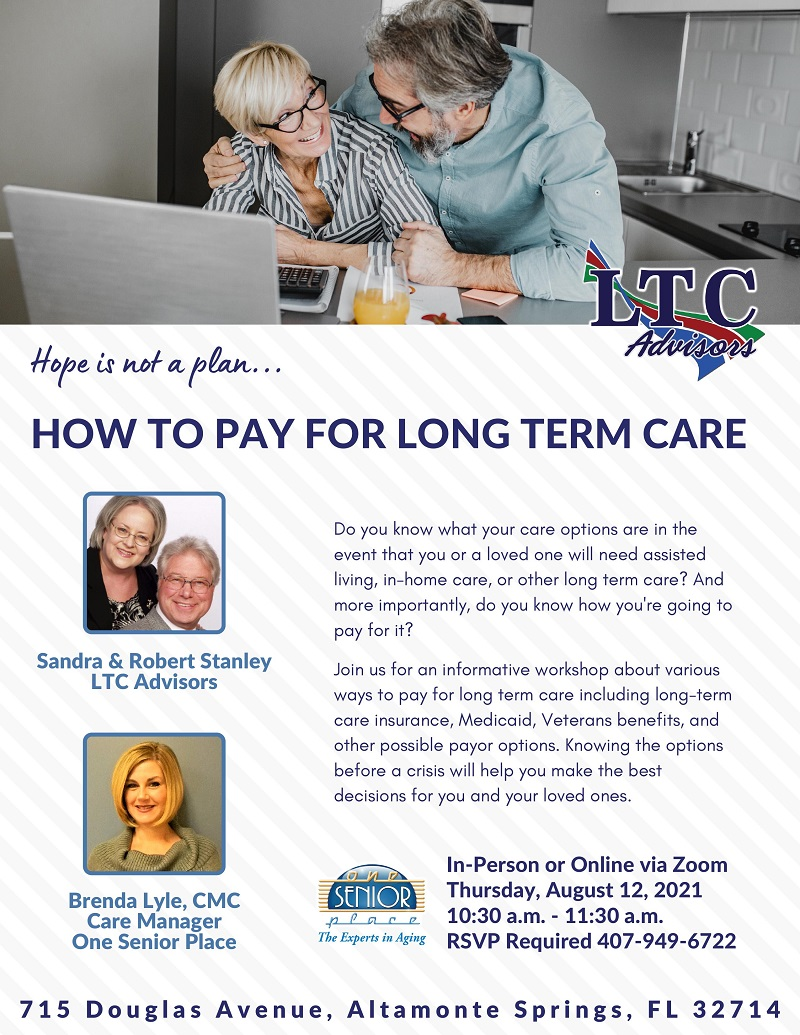 IN-PERSON & VIRTUAL: How to Pay for Long Term Care
