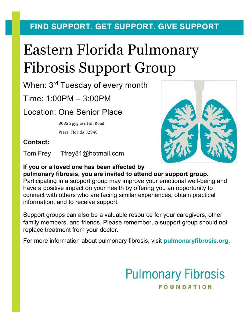 Pulmonary Fibrosis Support Group - Pulmonary Fibrosis Foundation