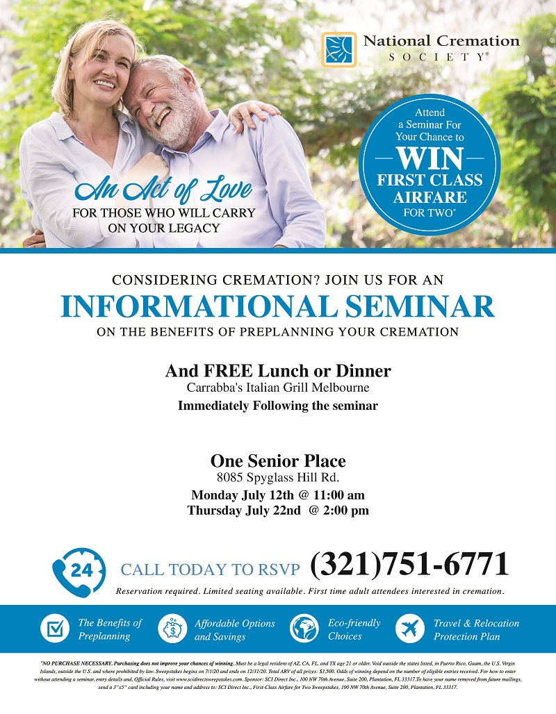 Considering Cremation? Join us for as Informational Seminar - National Cremation Society