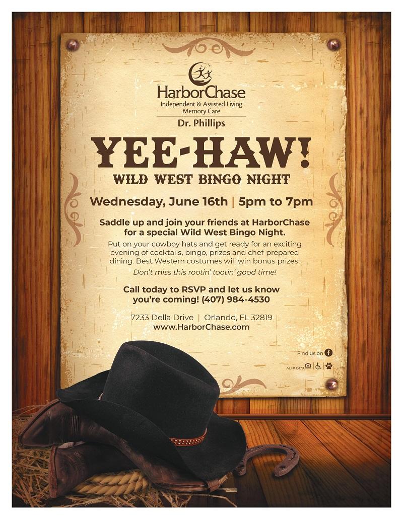 Wild West Bingo Night