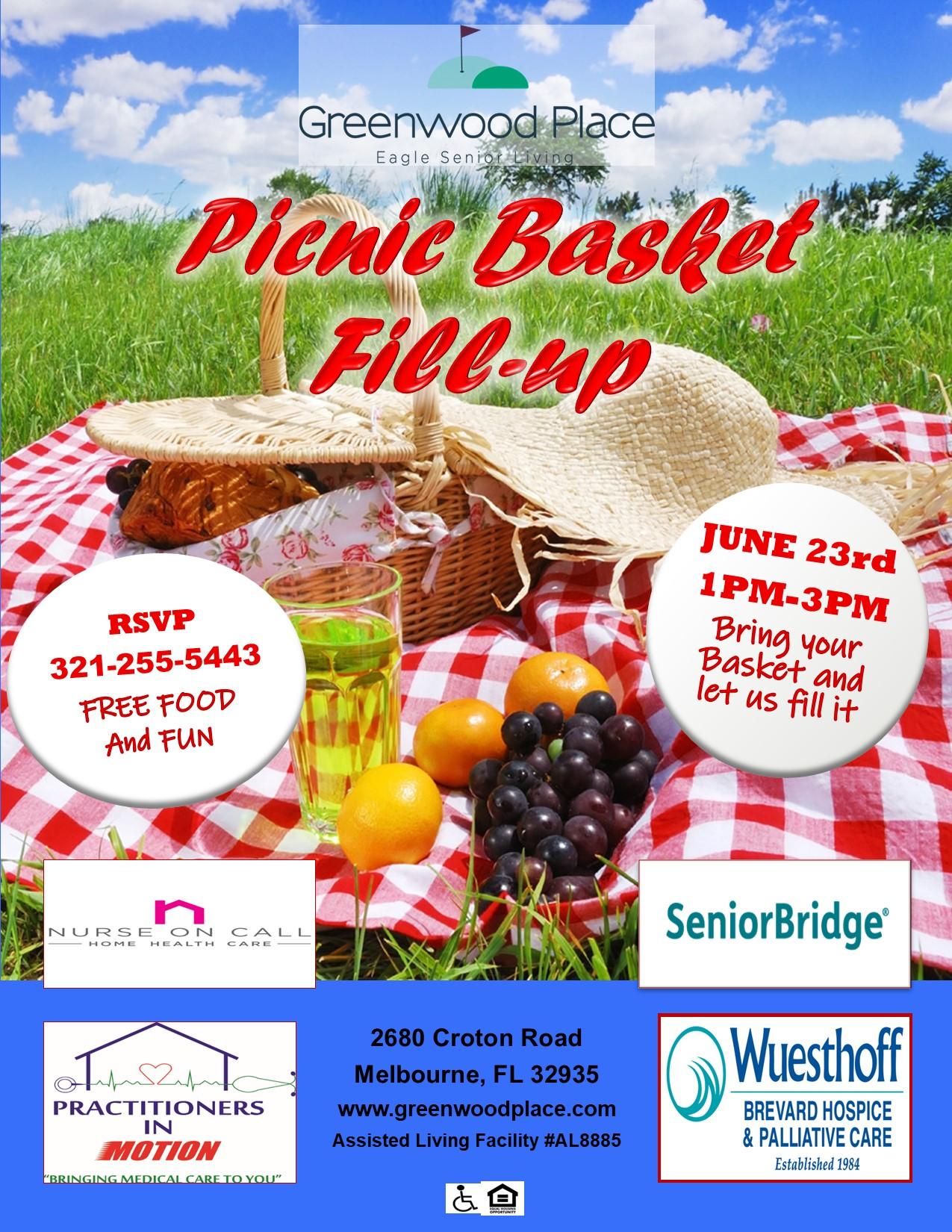 Picnic Basket Fill-up at Greenwood Place