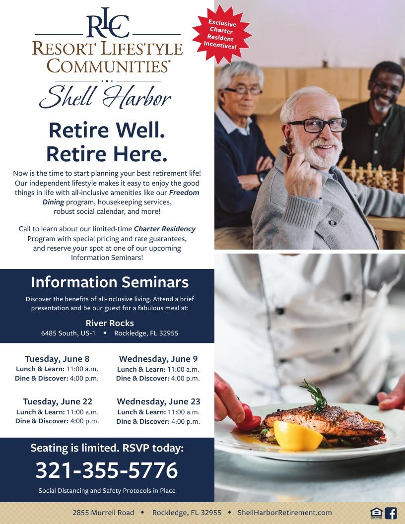 Retire Well, Retire Here - Shell Harbor Retirement Community
