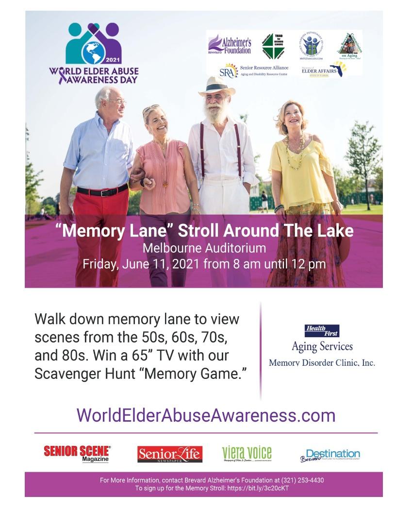 """Memory Lane"" Stroll Around The Lake - World Elder Abuse Awareness Day"